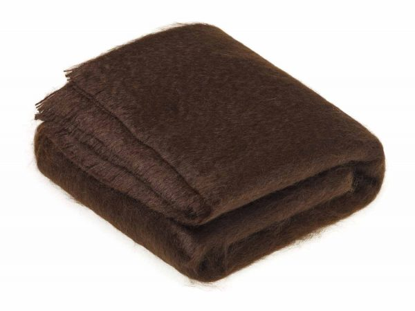 Bronte Mohair Throws - Chocolate