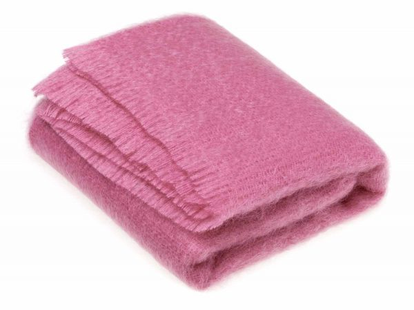 Bronte Mohair Throws - Fuchsia Pink