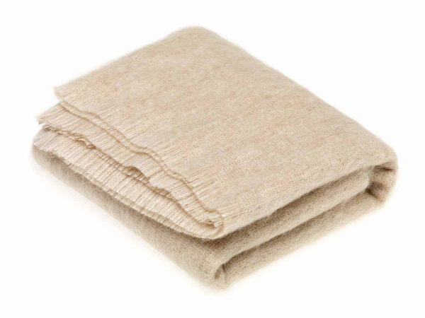 Bronte Mohair Throws - Blonde