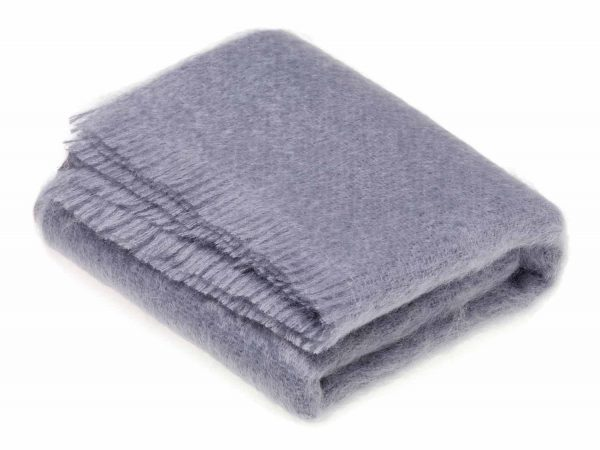 Bronte Mohair Throws - Blue Dusk