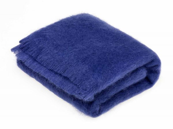 Bronte Mohair Throws - Indigo