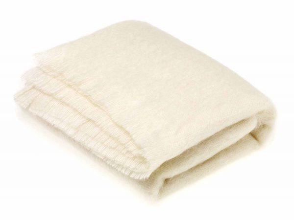 Bronte Mohair Throws - Natural