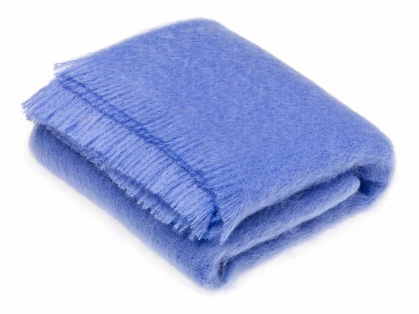 Bronte Mohair Throws - Oceano Blue