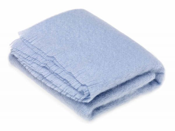 Bronte Mohair Throws - Paradise Blue