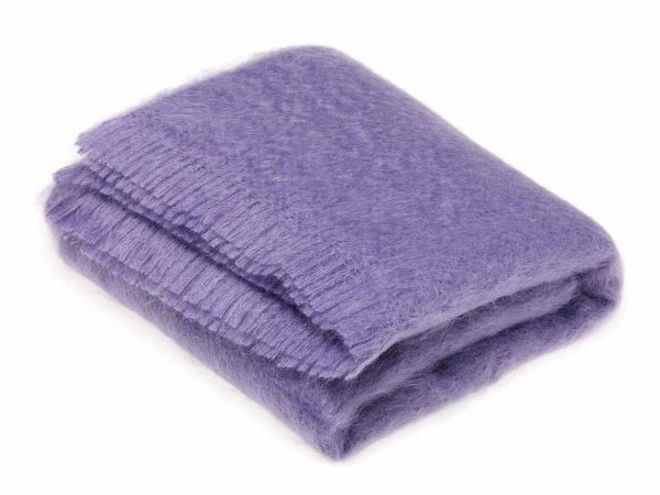 Bronte Mohair Throws - Cloud Violet