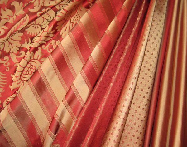 Mendip Silk Damask Range - Reds