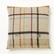 Bronte Cushions CRA60-A01LC-Lambswool-Cushion-Multi-Windowpane-Beige-Multi-250x250