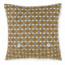 Bronte Cushions T0432-D01LC-Lambswool-Rectangle-Gold-Cushion-500x479