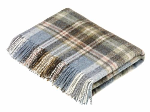 Bronte Throws Country Check T0449-A01-Shetland-Glen-Coe-Aqua-Throw-500x375