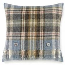 Bronte Cushions Country Check T0449-A01LC Shetland-Glen-Coe-Aqua-Cushion-500x479