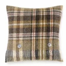Bronte Cushions Country Check T0449-W18LC-Shetland-Glen-Coe-Mustard-Cushion-250x240