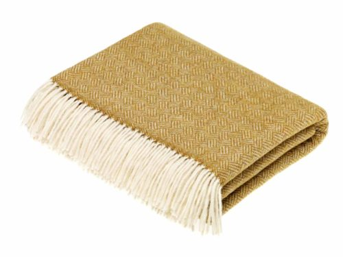 Bronte Throws T0460-A35-Lambswool-Parquet-Gold-Throw-500x375