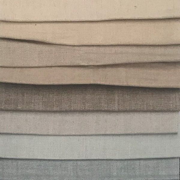Trabeth Monza, (Top to Bottom): Natural, Oatmeal, Pebble, Stone, Praline, Cloud, Seafoam, Duckegg