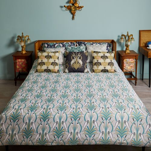 Design Studio, The Chateau, Deco Heron, Grey Bedding