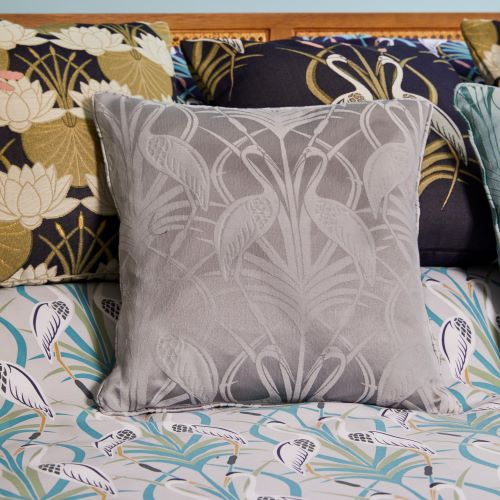Design Studio, The Chateau, Deco Heron, Grey Cushion