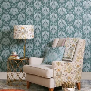 Design Studio, The Chateau, Deco Heron, Teal Wallpaper Room