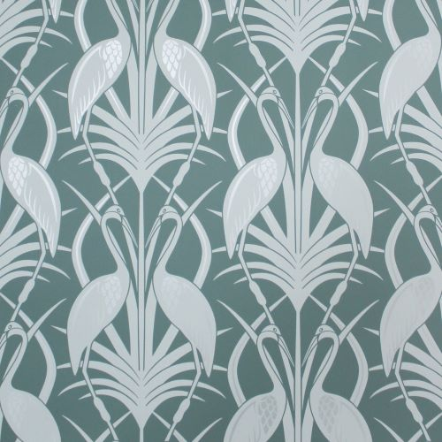 Design Studio, The Chateau, Deco Heron, Teal Wallpaper