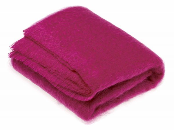 Bronte Mohair Throws - Cactus Pink