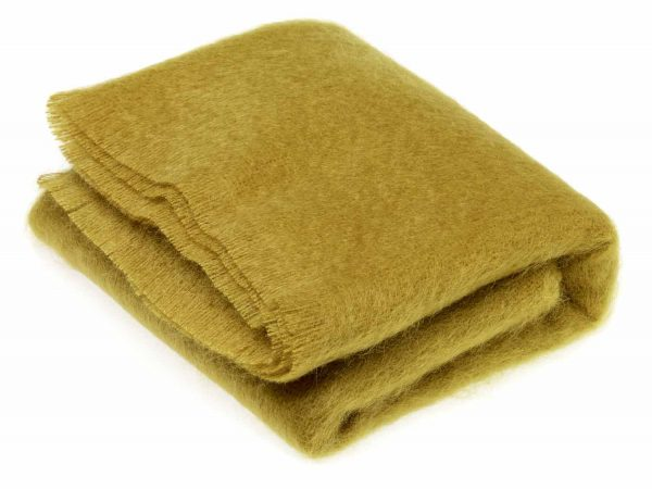 Bronte Mohair Throws - Burnt Gold