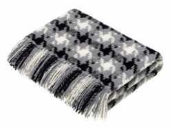 Bronte Throws T0429-X13-Lambswool-Houndstooth-Charcoal-Throw-250x188