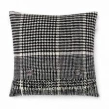 Bronte Cushions T0452-D03-Lambswool-Prince-of-Wales-Black-White-Cushion-250x240