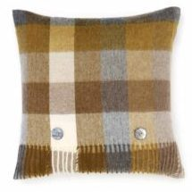 Bronte Cushions T0463-M07LC-Lambswool-Harlequin-Gold-Cushion-250x240