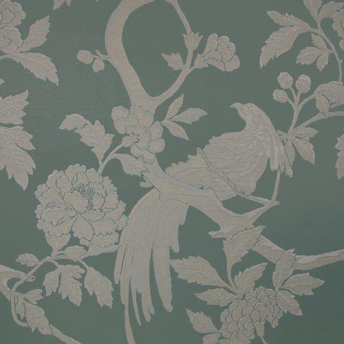 Pasaya, Modern Oriental, MO01 wallcovering, Whisper Green