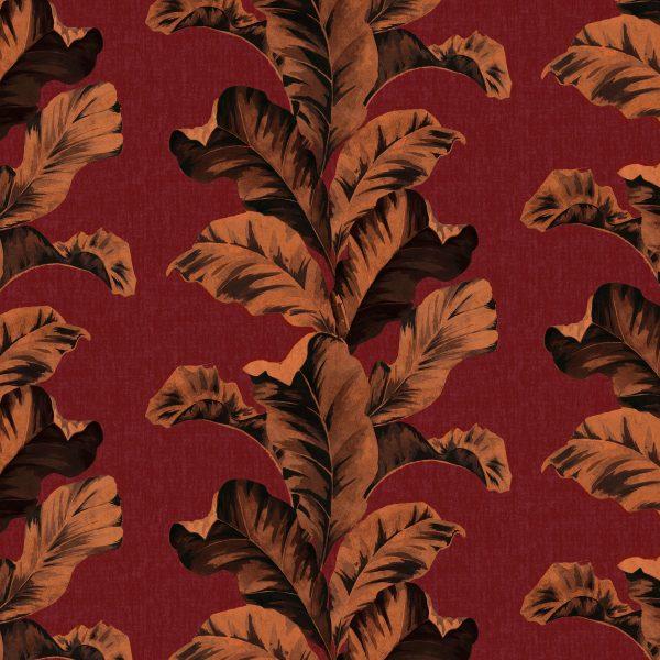 Oriental Leaves Red
