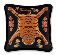 Tibetan Tiger - Black 55x55cm