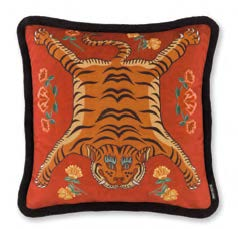 Tibetan Tiger - Red 55x55cm