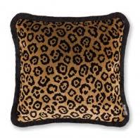 Velvet Leopard Gold 43x43cm