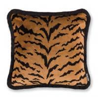 Velvet Tiger Gold 43x43cm