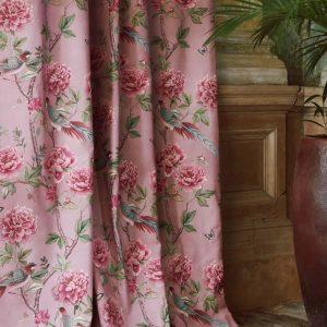 Vintage Chinoiserie Blossum Curtains
